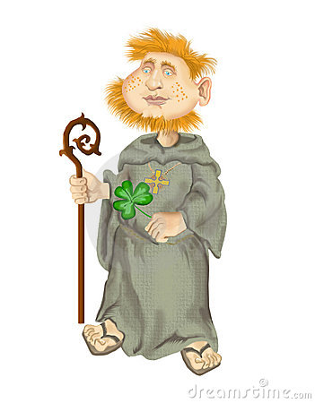 St Patrick on white background