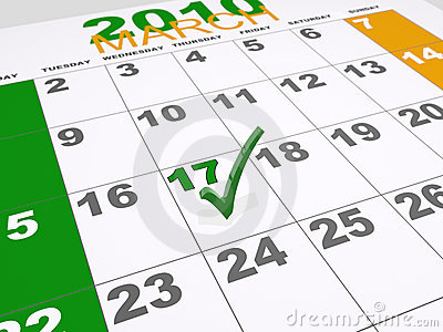 St Patricks Calendar