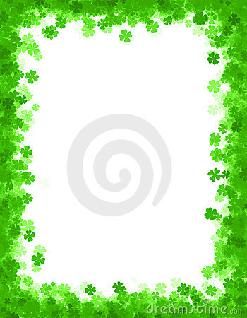 St. Patricks day background / border