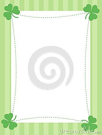 St. Patricks day background / border