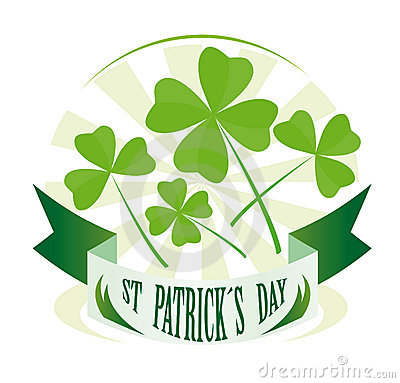 St Patricks Day Badge Royalty Free Stock Image - Image: 16383396