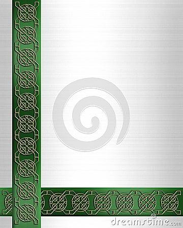 St Patricks Day Border Celtic Knot