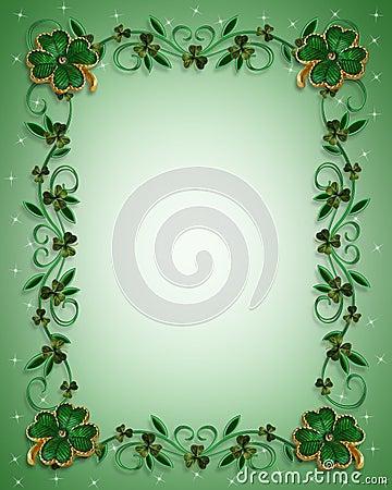 Free St Patricks Day Border Shamrocks Stock Image - 8429311