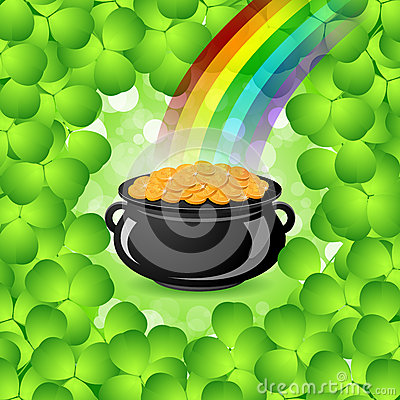 St. Patricks Day Cauldron With Gold Coins Royalty Free ...