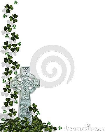 St Patricks Day Celtic Cross Border