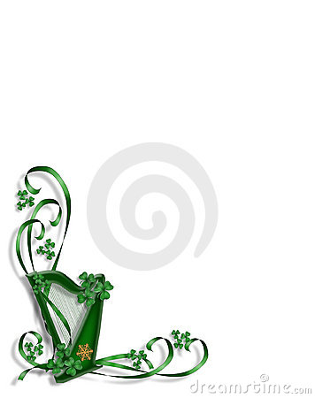 St Patricks Day Celtic Harp