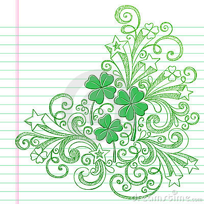 St Patricks Day Colvers Sketchy Doodles Vector