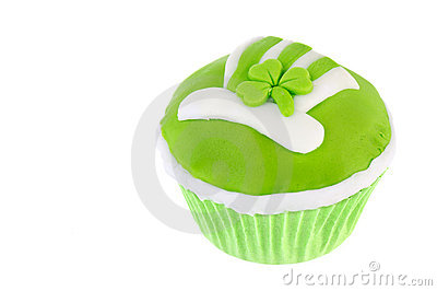 St. patricks day cupcake