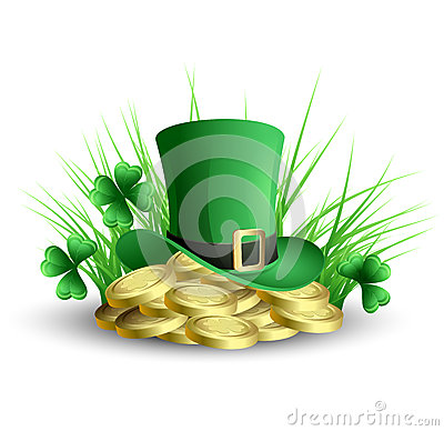 Free St Patricks Day Green Clover Background Royalty Free Stock Photography - 29148917