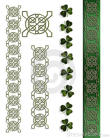 St Patricks Day Irish Celtic Borders Royalty Free Stock ...