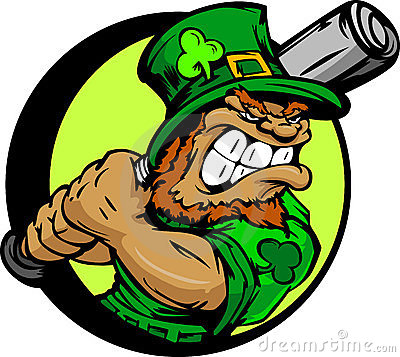 Free St. Patricks Day Leprechaun Holding Baseball Bat Stock Image - 22938081