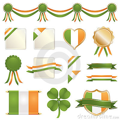 St Patricks Day Ribbons And Seals Stock Images - Image: 18071724
