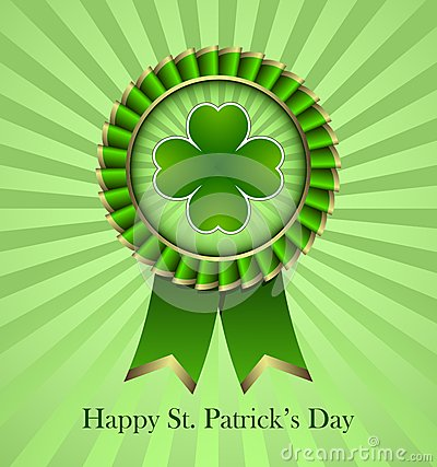 St. Patricks Day Rosette Ribbon