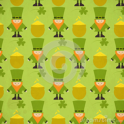 St.Patricks Day Seamless Background