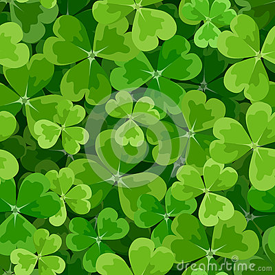 Free St. Patricks Day Seamless Background With Shamrock Royalty Free Stock Photography - 38468527