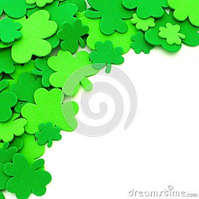 St Patricks Day shamrock border