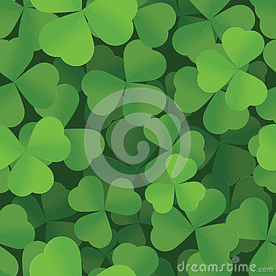 St. Patricks Day shamrock seamless background
