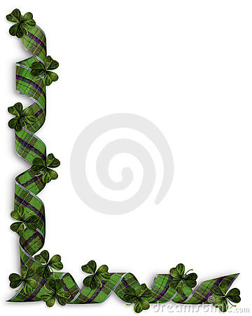 St Patricks Day Shamrocks Border
