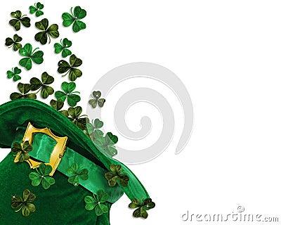 St Patricks Day shamrocks in hat