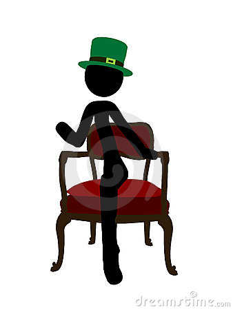 St. Patricks Day Stickman Illustration Silhouette