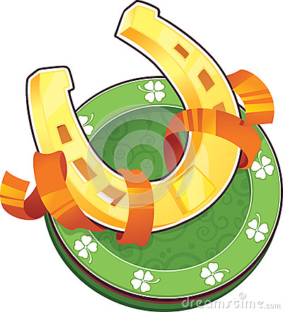 St.Patricks Day symbol. The Horseshoe