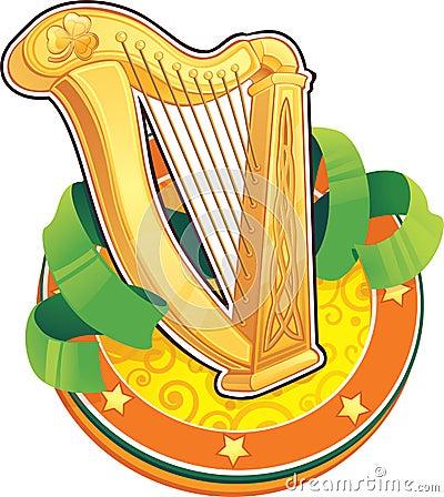 St.Patricks Day symbol. The Irish Harp