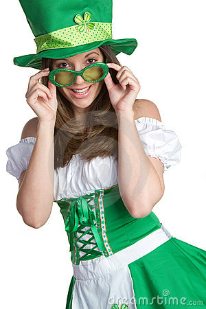 Free St Patricks Day Woman Royalty Free Stock Images - 17926659