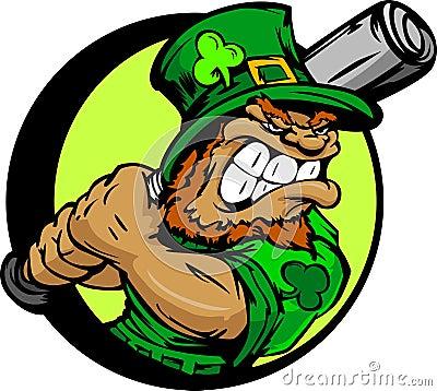St. Patricks de Knuppel van het Honkbal van de Holding van de Kabouter van de Dag