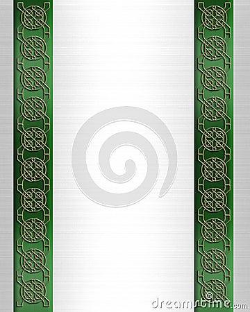St Pattys Day Border Celtic Knot