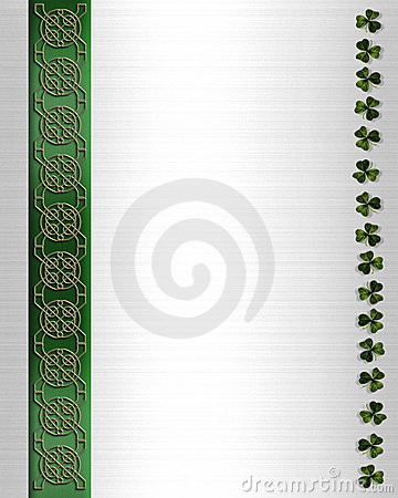St Pattys Day Border Celtic Knot