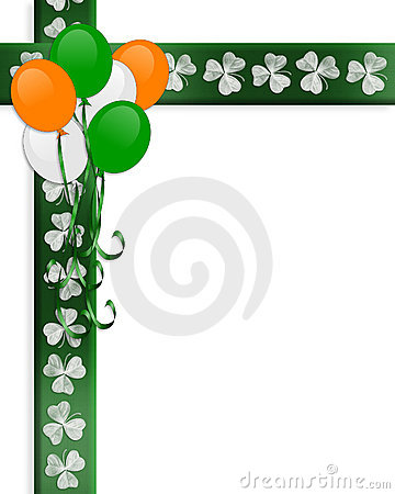 St Pattys Day Irish Border Balloons