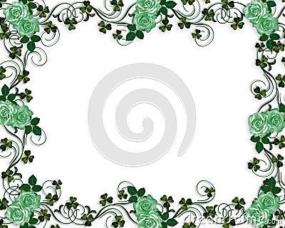 Irish roses wedding border