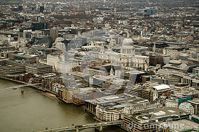 St Paul Kathedrale und Stadt von London