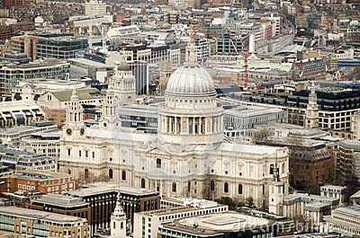 St Paul s Cathedral from above