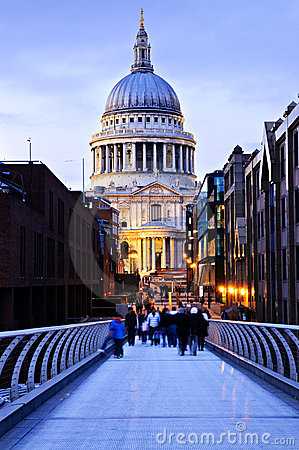 St. Paul's Cathedral London At Dusk Stock Images - Image: 12088764
