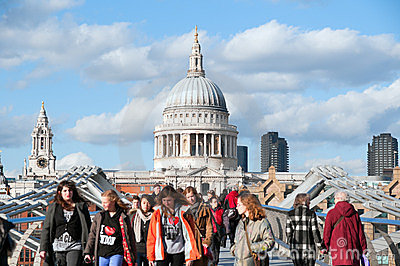 St Paul s Cathedral, London - England Editorial Image