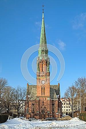 Free St. Paul`s Church Paulus Kirke In In Oslo, Norway Stock Images - 112111844