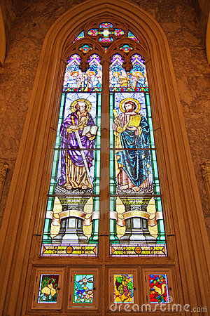 ST. Paul  and  ST. Peter Stained glass