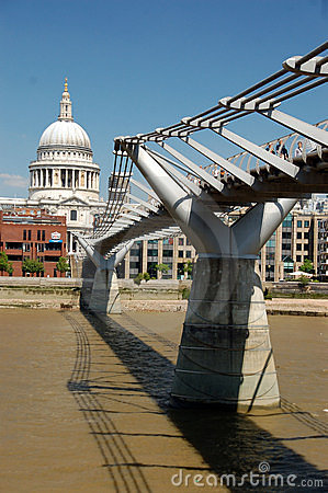 Free St Pauls And The Millenium Bridge Stock Image - 22612261