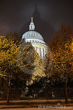 St Pauls Cathedral, London, England, UK, night