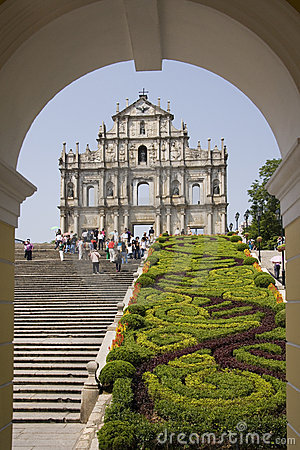 St Pauls Cathedral - Macau - South East Asia Editorial Stock Image