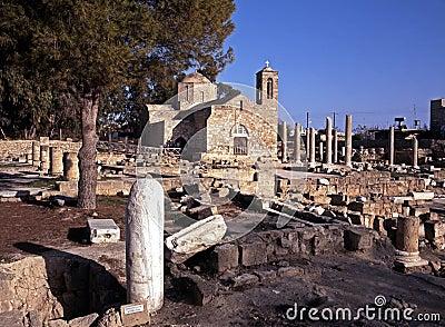 St. Pauls Pillar and Basilica, Paphos, Cyprus.