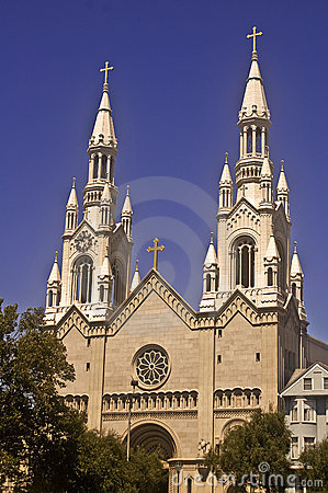 Free St. Peter And Paul Church In San Francisco Royalty Free Stock Images - 6249189