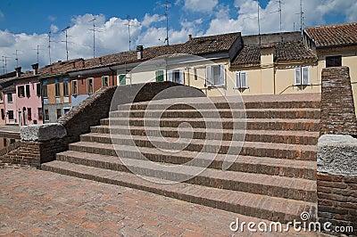 St.Peter Bridge. Comacchio. Emilia-Romagna. Italy.
