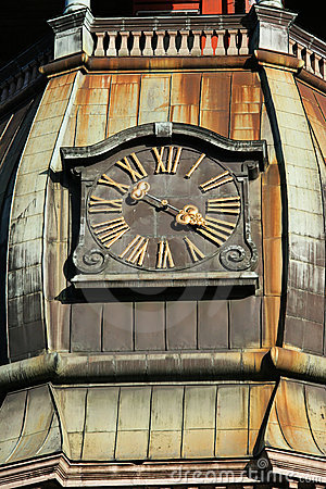 Free St. Peter Church Tower Clock Royalty Free Stock Photography - 6940217
