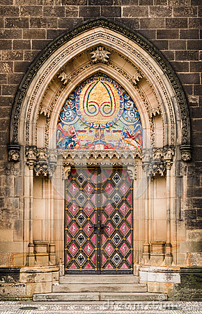 St Peter and Paul gothic portal, Prague