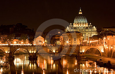 St. Peter s Basilica at night