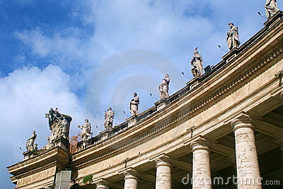 St. Peter's Basilica In Vatican Stock Photo - Image: 14329450