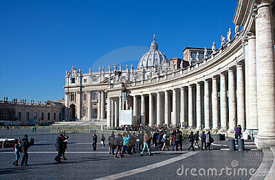 St. Peter s Basilica in Vatican Editorial Stock Image