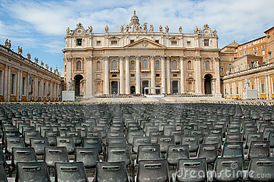 St Peter s Square and Basilica, Vatican City Editorial Photography